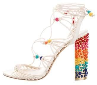 Salvatore Ferragamo Rainbow Leather Sandals