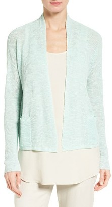 Women's Eileen Fisher Slubbed Organic Linen & Cotton Cardigan $168 thestylecure.com