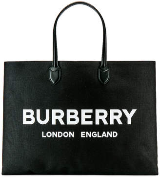 c286093c4df6 Burberry Large Leather Tote Bag in Black