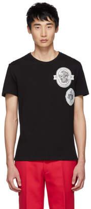 Alexander McQueen Black Logo Patch T-Shirt