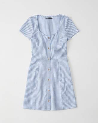 Abercrombie & Fitch Short-Sleeve Button-Up Dress