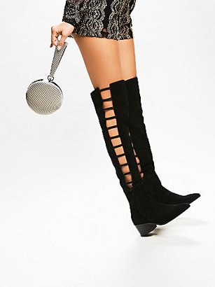 Ladder Over The Knee Boot by Faryl Robin + Free People $248 thestylecure.com