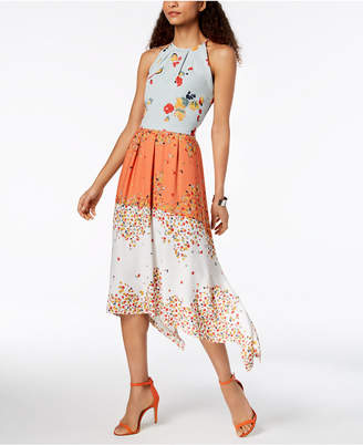 Laundry by Shelli Segal Floral-Print Midi Dress