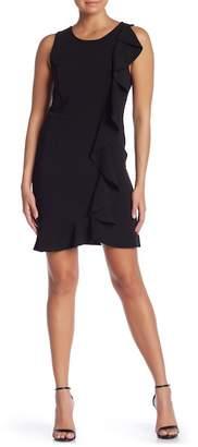 Kensie Ruffle Front Shift Dress