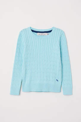 H&M Cable-knit Sweater - Turquoise