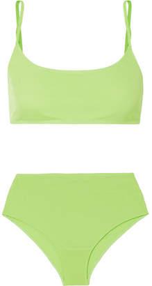 e878effefe6566 REJINA PYO Imogen Neon Jersey Bra And Briefs Set - Green