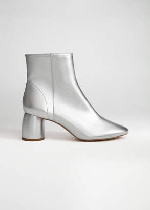 And other stories Metallic Cylinder Heel Boots