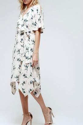 Blu Pepper Floral Faux-Wrap Dress