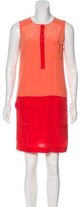 Rachel Zoe Silk Colorblock Dress
