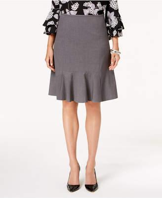 Nine West Stretch Flare-Hem Skirt