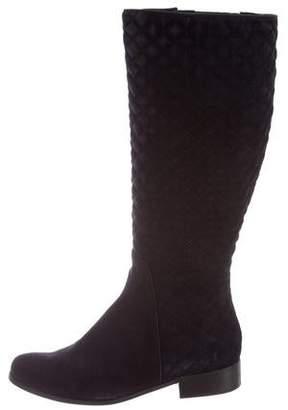 Neiman Marcus Suede Knee-High Boots