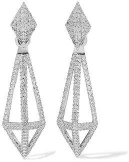 Noir Blarney Silver-Tone Crystal Earrings