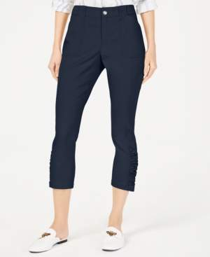 INC International Concepts Inc Curvy Ruched-Hem Cropped Pants, Created for Macy's