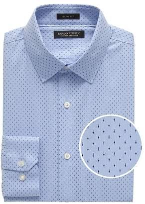 Banana Republic Grant Slim-Fit Non-Iron Print Dress Shirt