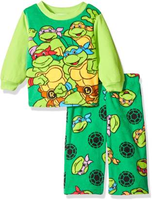 Nickelodeon Boys' Ninja Turtle 2-Piece Fleece Pajama Set