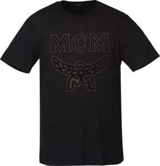 MCM Men's Logo Studded T-shirt