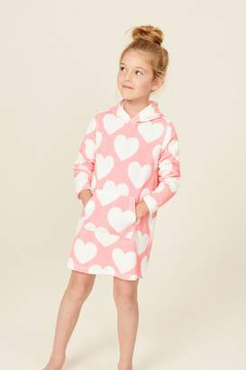 Next Girls Pink Heart Towelling Tunic (3-16yrs) - Pink