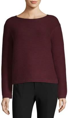 Lafayette 148 New York Link-Stitch Cashmere Sweater