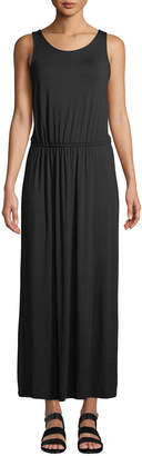 Fourteenth Place Sleeveless Elastic-Waist Jersey Knit Maxi Dress