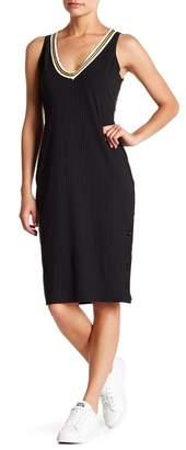 Socialite Deep V Midi Dress