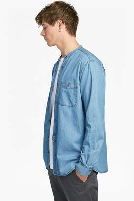 French Connection The Three Ages of Denim Grandad Shirt