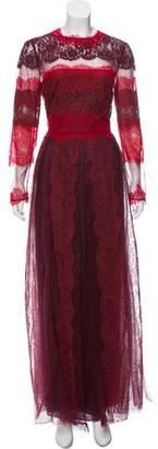 Valentino Lace Evening Dress