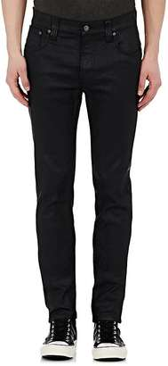 Nudie NUDIE MEN'S THIN FINN WAXED SLIM STRAIGHT JEANS $165 thestylecure.com