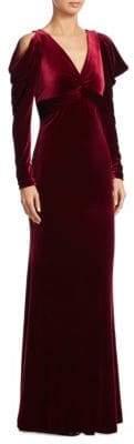 Teri Jon by Rickie Freeman Velvet Mermaid Gown