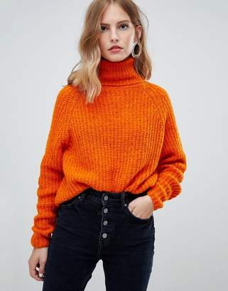 Only roll neck knitted jumper