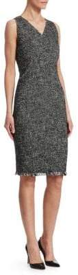 Akris Punto Tweed V-Neck Sheath Dress