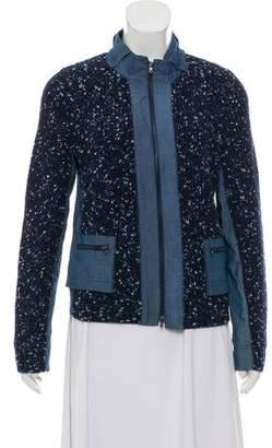 St. John Rib Knit Wool Jacket