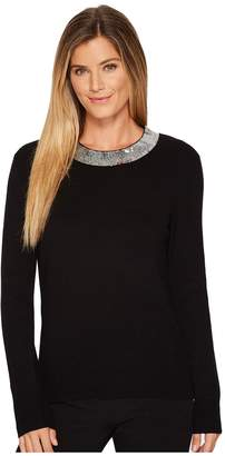 MICHAEL Michael Kors Sequin Collar Sweater Women's Sweater