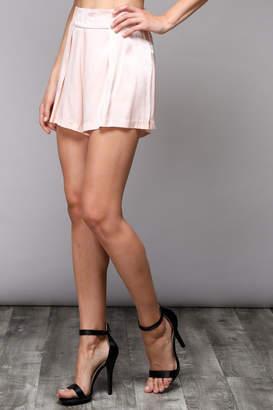 Do & Be Peach Satin Shorts