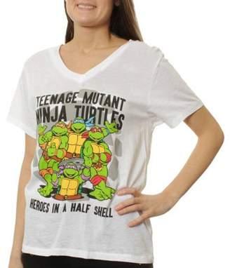 Teenage Mutant Ninja Turtles Womens Burnout Graphic T-Shirt