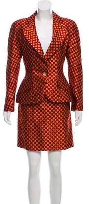 Christian Dior Silk Jacquard Skirt Suit