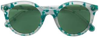Christopher Kane Eyewear speckled round frame sunglasses