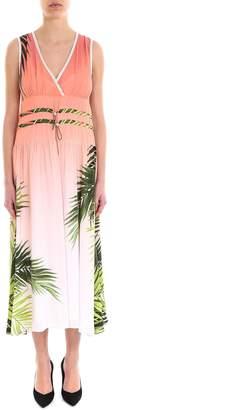 Sportmax Code Sleeveless Palm Print Dress