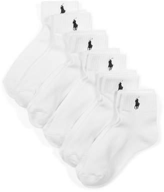 Polo Ralph Lauren Blue Label Women's Sport Quarter 6 Pack Socks