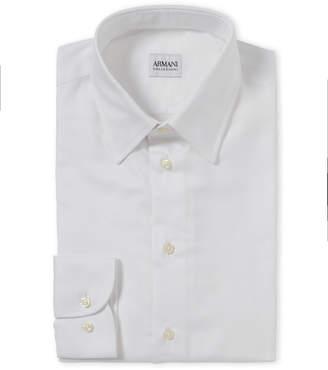 Armani Collezioni Modern Fit Broadcloth Dress Shirt