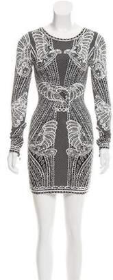 Herve Leger Zoe Cloqué Mini Dress