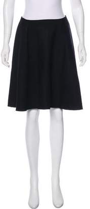 Albino Wool Knee-Length Skirt
