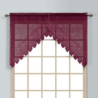 Co UNITED CURTAIN United Curtain Valerie Rod-Pocket Kitchen Valance
