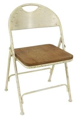 Decor Therapy Vivian Wood Folding Chair Decor Therapy