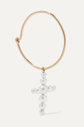 Sophie Bille Brahe Fellini 14-karat Gold Pearl Earring