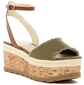G by GUESS Baker Platform Wedge Sandal $69 thestylecure.com