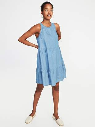 Old Navy Sleeveless Tiered Trapeze Dress for Women