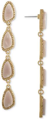 Rachel Roy Gold-Tone Blush Stone Drop Earrings