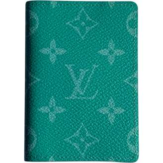 Louis Vuitton Pocket Organizer Green Cloth Small bags, wallets & cases