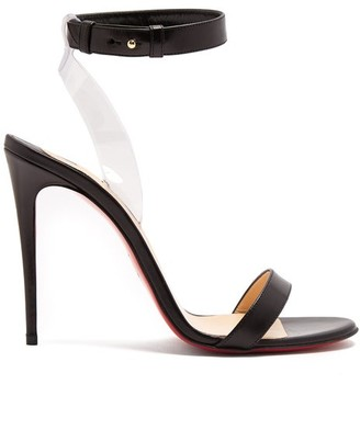 Christian Louboutin Jonatina 100 Leather Sandals - Womens - Black