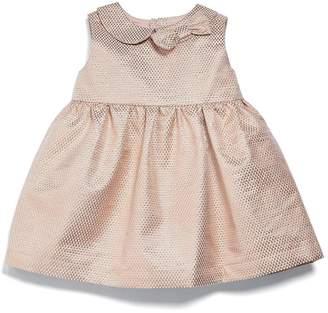 Mamas and Papas Baby Girls Metallic Jacquard Dress